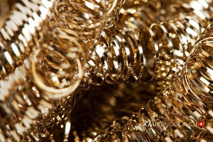 industrieller Goldabfall