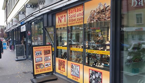 Goldkaufgeschäft in Basel